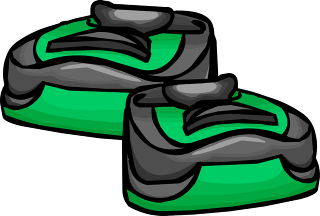 File:Green Running Shoes clothing icon ID 6002.png