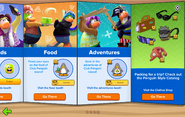 Club Penguin Island Party interface page 4