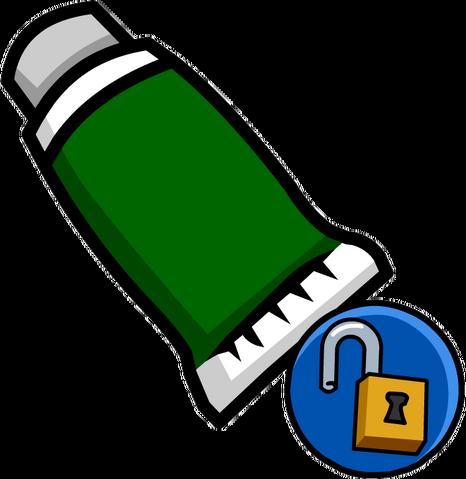 File:Green Face Paint (Unlockable).png