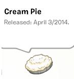 Cream pie pin