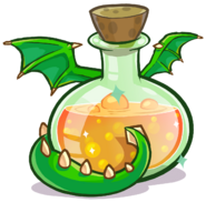 Medieval 2013 Potions Green Puffle Dragon