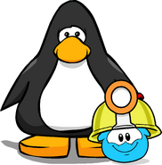 Mining Helmet (Puffle Hat) on Player Card