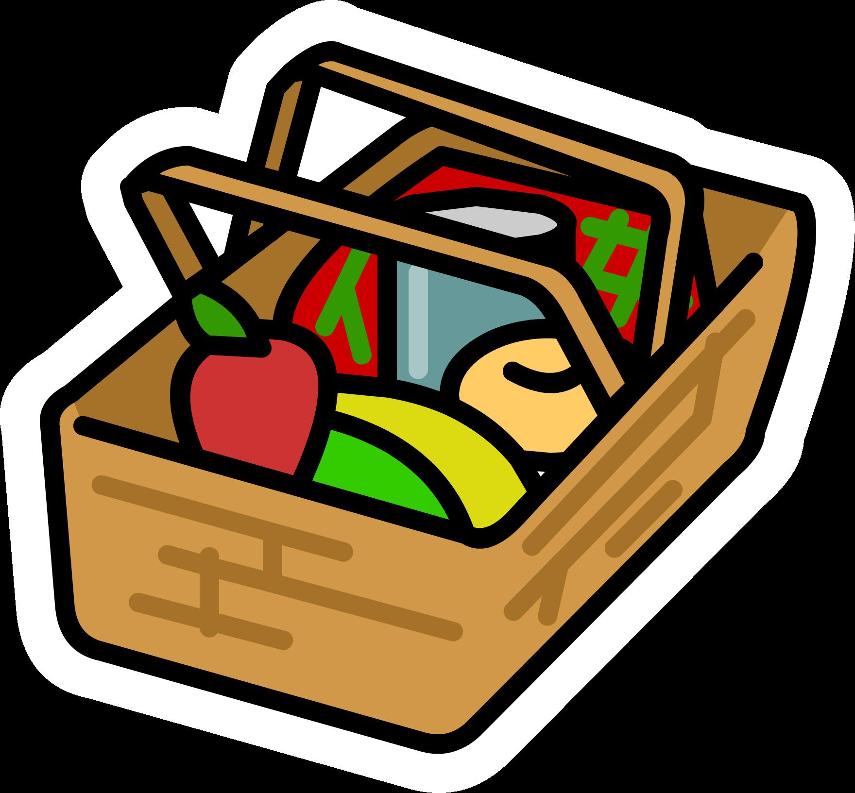 Image Picnic Basket Pin Png Club Penguin Wiki Fandom