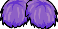 Purple Pompoms