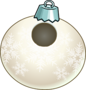White Snowflake Bauble clothing icon ID 24005