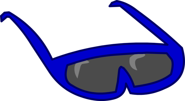 File:Blue Sunglasses Old.png