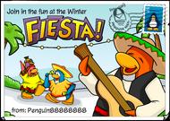 Winter Fiesta postcard