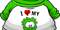 I Heart My Green Puffle T-Shirt