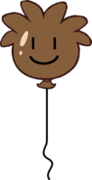 Brown Puffle Balloon icon