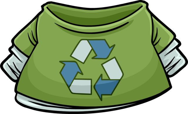 File:Green Recycle T-Shirt icon.png