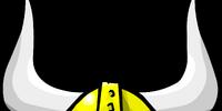 Gold Viking Helmet
