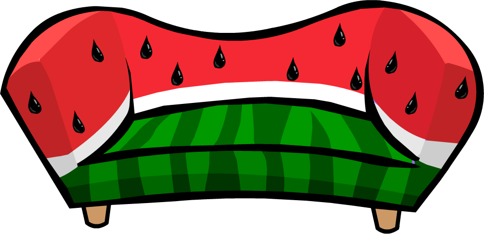 Watermelon sofa club penguin wiki fandom powered by wikia - Sofa herbergt s werelds ...