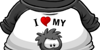 I Heart My Black Puffle T-Shirt