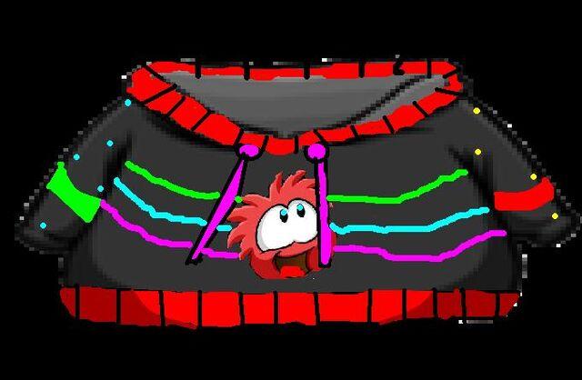 File:Neon Red Puffle Hoodie.jpg