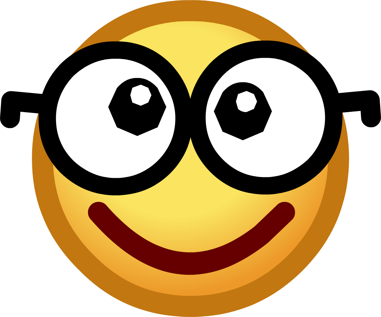 OnlineLabels Clip Art - Emoticons: Nerd Face