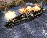 TW Aircraft Carrier been bombarding