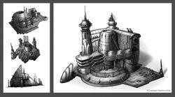 RA3U Lost Castle Concept Art