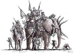 War Elephant concept art