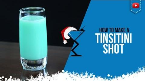 Christmas Cocktails - Tinseltini Shot - How to make a Tinseltini Shot Recipe (Popular)