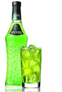 Midori on the rocks