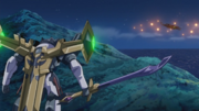 Close-up view of Galahad's Excalibur and Scabbard