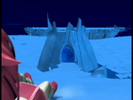 Ice sector Aelita sliding to a tunnel