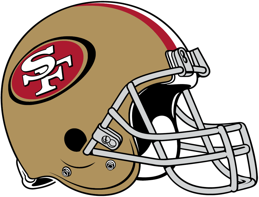 San Francisco 49ers Team Helmet Amp Logo Double Magnet Pack