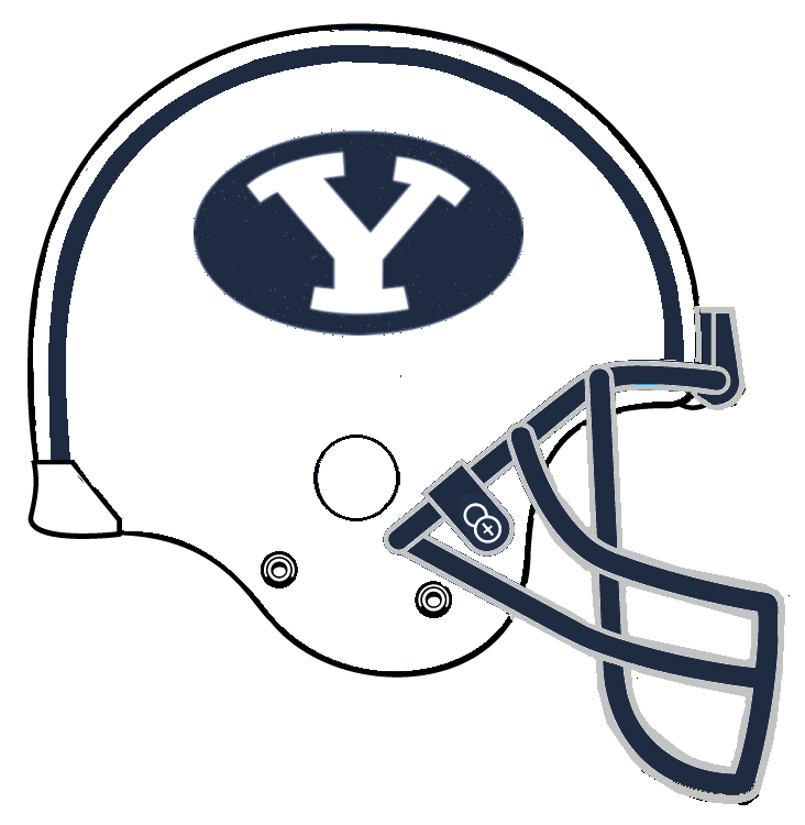 byu coloring pages image ncaa byu helmet american football wiki