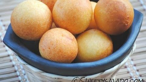 Recipe For Colombian Buñuelos - How To Make Colombian Cheese Fritters - Sweetysalado