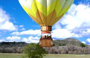 4X9 The balloon takes off