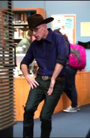 Dean Pelton dressed as Cowboy Jeff
