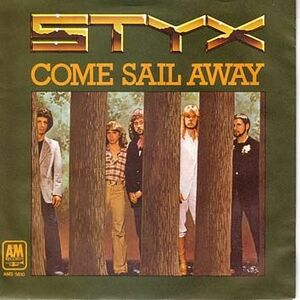 Come Sail Away Singles cover