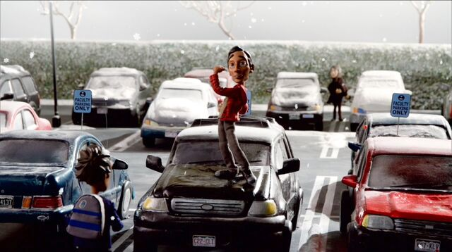 3x11 Abed parking lot