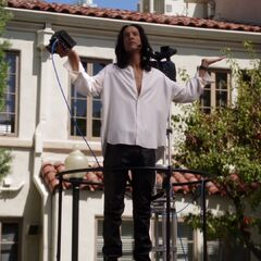 Abed on the set of his movie.