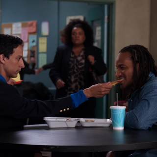 Abed bribes Shirley's crush.