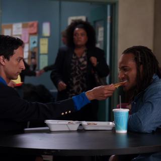 Abed bribes Shirley's crush.