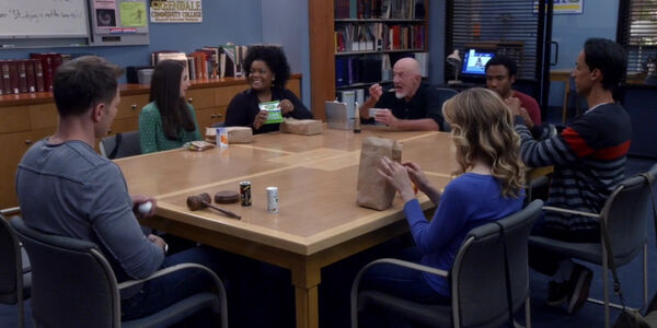 5x02-Save Greendale Committee lunch