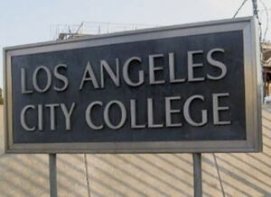 Los Angeles City College sign