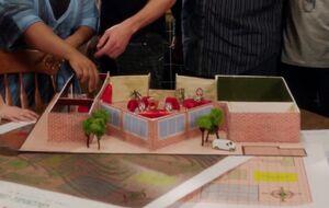 Greendale campus diorama