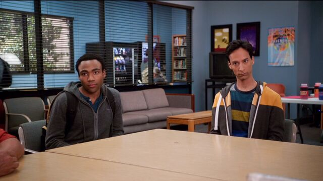 File:4x11 Troy and Abed weird stare.jpg