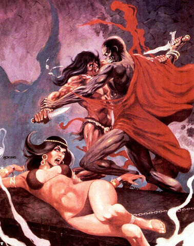 File:-18 abril 1977 . La Batalla de las Torres. Guión de Roy Thomas, lápices de John Buscema, tintas de Alfredo Alcalá..jpg