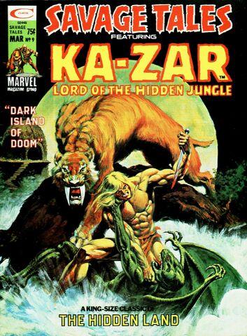 File:Savage Tales 9 Ka-Zar March 1, 1975.jpg