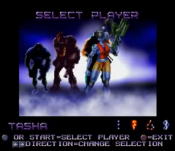 Contra Legacy of War Player Select Tasha