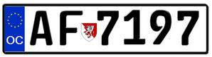 Occitanian license plate