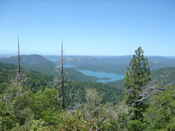 Lake Oroville from the distance