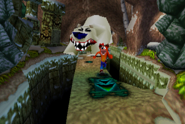 Image result for polar bear chase crash bandicoot