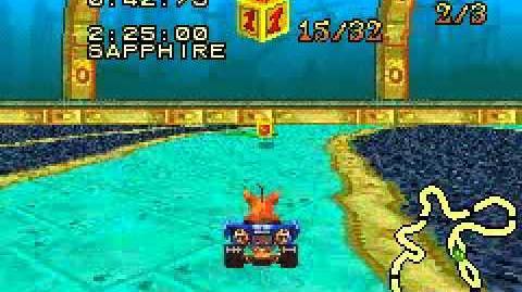 Crash Nitro Kart (GBA) - Part 43 Deep Sea Driving (Relic Race)