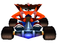 CTR Fake Crash In-Kart (Front)