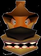 Crash Bandicoot 3 Warped Tiny Tiger Head in Vortex