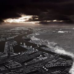 The <b>Fall of Rotterdam</b> was the first massive disaster related to Climate Change to affect a developed country.